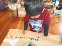 Yi Teng re-visits the alphabet explorations that began prior to Spring Break